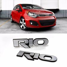 Side Front Trunk Hairline Emblem Point Logo Badge 2p for KIA 2012-2017 Rio Pride