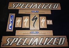 AUTHENTIC SPECIALIZED WHITE / BLACK FRAME STICKERS / DECALS M4 MAX AUFKLEBER