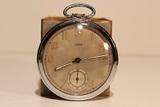 "ART DECO WW2 ERA MEN'S SWISS OPEN FACE POCKET WATCH ""ORIS""7 JEWELS/CAL.421"