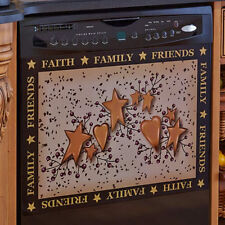 Country Hearts And Stars Kitchen Decor Decorating Ideas Dishwasher Magnet Cover