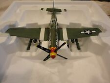 FRANKLIN MINT ARMOUR P-51 Mustang Airplane Collectible in Box  1/48