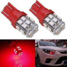 2x T10 2825 192 194 168 501 Ultra Red 20 SMD LED Wedge Side Interior Light Bulb