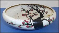 SIGNED GYOZAN CHERRY BLOSSOM TREE BOWL ANTIQUE JAPANESE SAKURA BONSAI MEIJI ERA