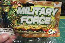 Unopened 90 piece Military Force army men in different stances and laying down