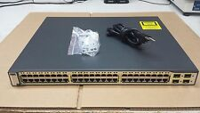 Cisco Catalyst 3750 Series PoE WS-C3750-48PS-S 48-Port V05  Network Switch
