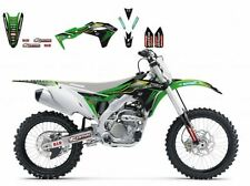 BLACKBIRD KAWASAKI KXF 250 2017 KIT GRAFICHE ADESIVI MONSTER GRAPHIC NERE