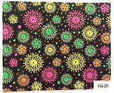 Nail Art 3D Decal Stickers Neon Fireworks New Years Fourth of July YGYY062
