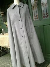 STEINBOCK Luxury Pure New Wool & Alpaca Grey Loden cape coat AUSTRIA size 36/10