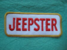 "Jeepster Jeep Racing Patch 3 3/4"" X 1 5/8 """