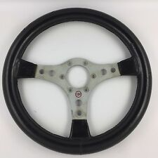 Genuine RAID 340mm black car steering wheel. Rat-look, retro classic. Bargain!