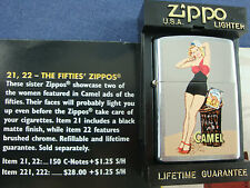 Vintage 97 CAMEL The Fifties PIN-UP GIRL ZIPPO LIGHTER. Mint, Sealed, in Case