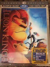 Disney's The Lion King (Blu-ray/DVD, 2011, 4-Disc Set, Diamond Ed, + 3D)