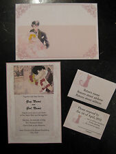 Sailor Moon wedding invitations envelopes and RSVP cards CUSTOM