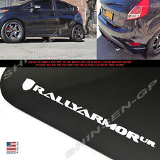 "Rally Armor UR ""Black Mud Flaps w/ White Logo"" 4pcs for 2013-2016 Ford Fiesta ST"