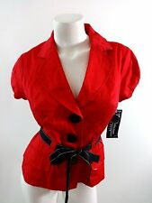 NWT RB COLLECTION NY WOMENS RED COTTON SPANDEX BLAZER JACKET SIZE 8 SUPER CUTE!