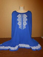 New Plus Size Tunic Size 2X-3X Batwing Blouse Clubwear Catherines Career $79