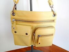 Fossil Sutton Yellow Leather Crossbody Bag w/Detach.,Adj, Strap  NWT  $158 + Tax