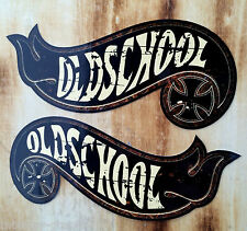 "2x Sticker "" Hotwheels Oldschool "" Retro Rost Aufkleber Biker Vintage V8 Tuning"