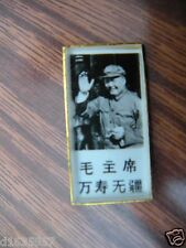 China Culture Revelution Badge of Small Mao Photo in Glass and Aluminum