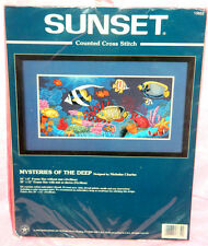 New Dimensions Sunset Mysteries Of The Deep Cross Stitch Kit Tropical Ocean Fish