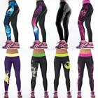 Womens Exercise Sport Gym Leggings Yoga Jogging Running High Waist Pants A55