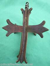 Crucifix croix à suspendre lustre église laiton ancienne hauteur 18,8 cm