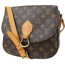 Auth LOUIS VUITTON Saint Cloud GM Shoulder Bag Monogram Brown M51242 04Z535
