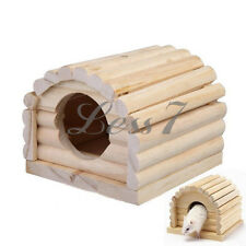 Practical Design For Rat Hamster Mouse Wood 1pc Wooden Bed House Arch
