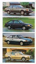 1986 Ford ESCORT Brochure / Catalog w/ Color Chart: Station Wagon,L select,GT,LX