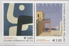 2003 Griekenland 2150a-2151a Europa CEPT - Affichekunst - Poster art