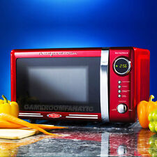 Retro Red Countertop Microwave Oven ~ Compact Dorm, Office, Home Small Appliance