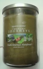 YANKEE CANDLE SOUTH AMERICAN RAINFOREST  WORLD JOURNEYS 22 OZ RARE AND AWESOME