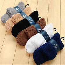6 Pairs Mens Soft Cozy Fuzzy Winter Warm Solid Slipper Floor Socks Xmas Gifts