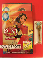 Elena Of Avalor: Ready To Rule DVD & Slipcover & Free Projection Scepter NEW