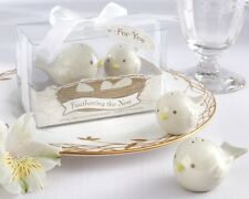 1 Feathering Nest Love Birds Salt & Pepper Shaker Favors Wedding SHIPS FROM US