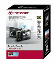 Transcend DrivePro 520 32GB Car Video Recorder, Dashboard Camera Built in Wifi