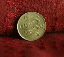 10 Senti Estonia 1994 Copper Nickel World Coin KM 22 Three Czech Lions