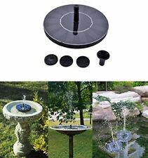 Cute Solar Powered Bird bath Fountain Pump, Free Standing Garden 1.4W Solar Kit