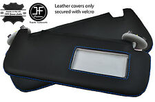 BLUE STITCH 2X SUN VISORS LEATHER COVERS FITS TOYOTA COROLLA 07-13 SALOON
