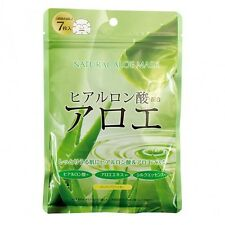 Japan Gals Natural Aloe Facial Masks 7 pcs Made in Japan