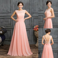 New Stock Long Evening Formal Dress Party Bridesmaid Wedding Masquerade Ballgown