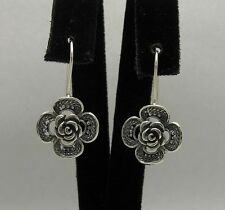 STERLING SILVER EARRINGS FLOWERS ROSE 925 NEW HANDMADE E000349 EMPRESS SOLID