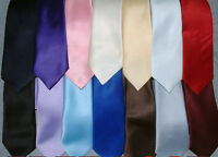 "TOP QUALITY BOYS CHILDRENS 45""  LONG TIES TIE LOTS OF COLOURS BRAND NEW"