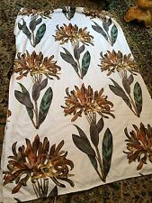 "Rare 60s Beautiful Vintage Sanderson DREAMFLOWER Lined Curtains W 47"" D 74"""