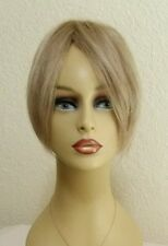 "NEW 100% Human Hair Blonde 9"" Topper Top Piece Crown Bangs Wiglet #830"