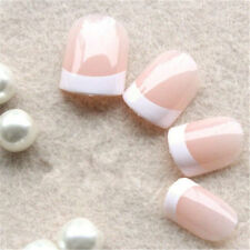 24pcs Full Short Fake Nails Art Tips Acrylic Nail False French Artificial Nail