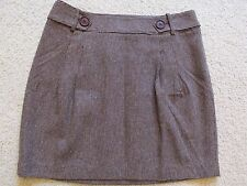 New with Tags Women's Ann Taylor Loft A-Line Brown Wool Winter Skirt Size 8