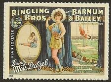 US 4900 Ringling Bros Barnum & Bailey Circus Poster Leitzel forever single MNH