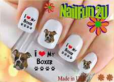 "RTG Set#116 DOG BREED ""Boxer I Love"" WaterSlide Decals Nail Art Transfers"