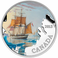 2015 $20 FINE SILVER COIN LOST SHIPS CANADIAN WATERS: FRANKLIN'S LOST EXPEDITION